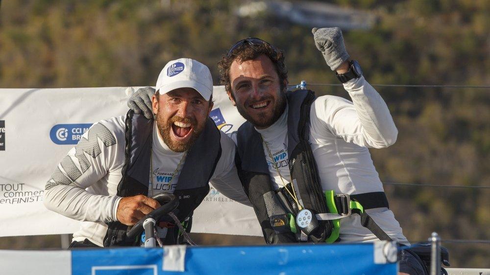 L'explosion de joie au bout de l'effort pour Nils Palmieri et Julien Villion.