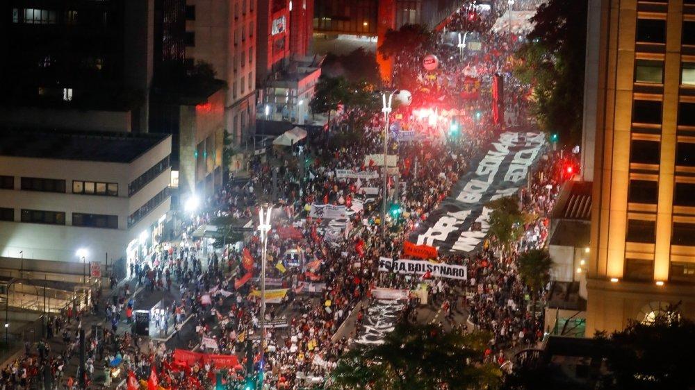 Les Brésiliens ont manifesté contre leur président Jair Bolsonaro  et sa gestion de la pandémie, Sao Paulo, le 29 mai dernier.