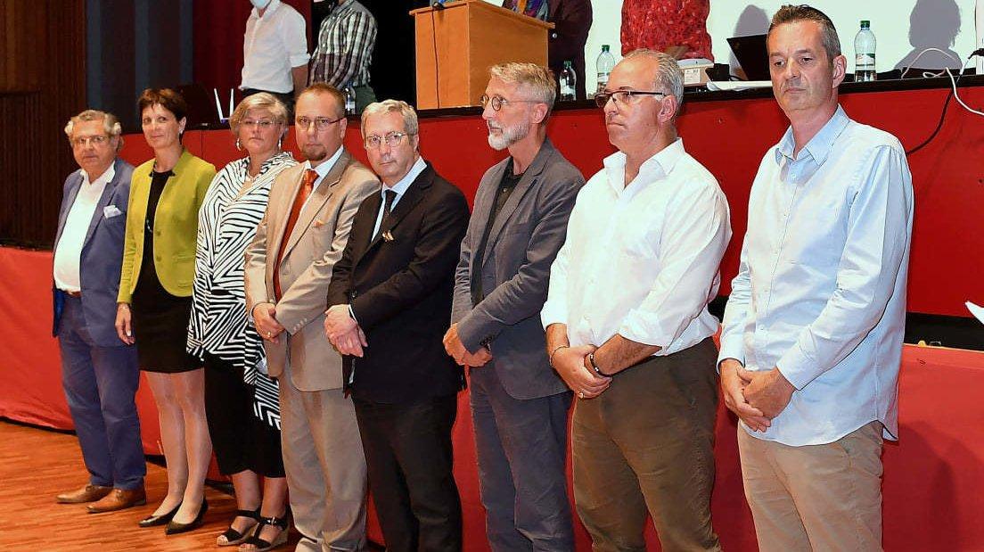 Le préfet Olivier Fargeon a procédé à l'assermentation du comité directeur pour la législature 2021-2026 mercredi soir à Founex.