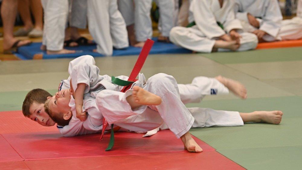 A Beausobre, les jeunes judokas s'en sont donnés à coeur joie.