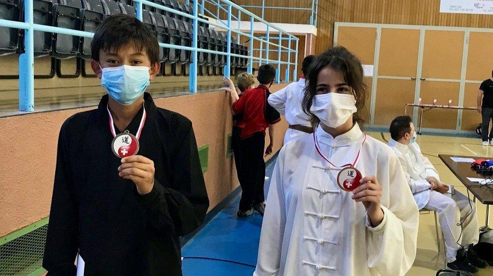 Armand Rochat, 12 ans, et Amalia Correia, 13 ans, ont brillé à Martigny.