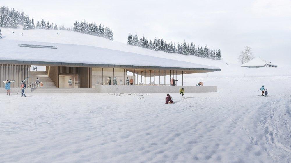"""Plus cher que prévu, le centre d'accueil des Dappes, baptisé le """"Lapin blanc"""" a été difficile à financer auprès d'une banque, frileuse à l'idée de voir une société suisse bâtir sur sol français."""
