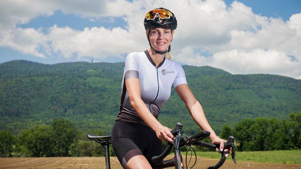 Mirjana Neskovic s'entraîne chaque jour, parfois deux fois par jour, pour réussir son défi.