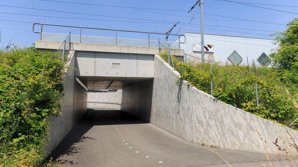 Le passage En Bonjean est actuellement dans son état d'origine. A Morges, deux autres passages inférieurs sont déjà utilisés pour des œuvres picturales.