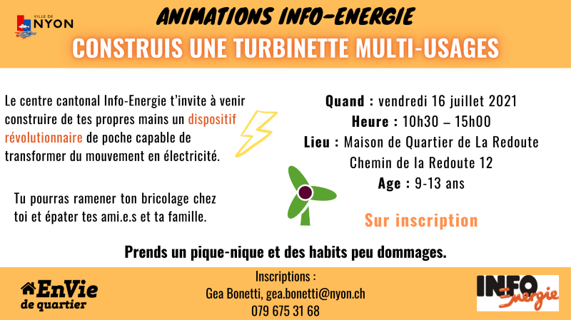 Animation Info-énergie - Turbinette multi usages