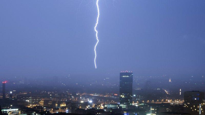 Météo: une partie de la Suisse balayée par de fortes précipitations