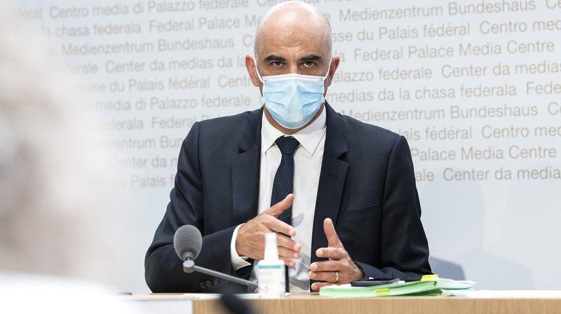 Le ministre de la santé Alain Berset s'est à nouveau adressé aux médias ce mercredi.