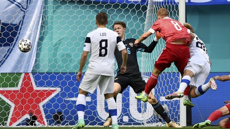 Au coeur de l'Euro: la Russie mène 1-0 contre la Finlande à la mi-temps