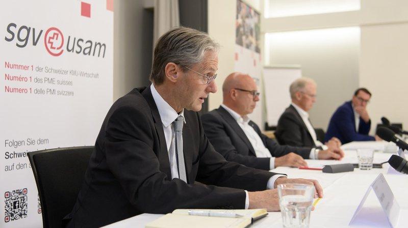 Des représentants de l'Union suisse des arts et métiers se sont exprimés en conférence de presse à Berne mercredi.