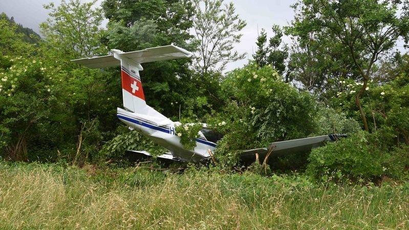 Un avion de tourisme sort de piste à Bad Ragaz (SG)