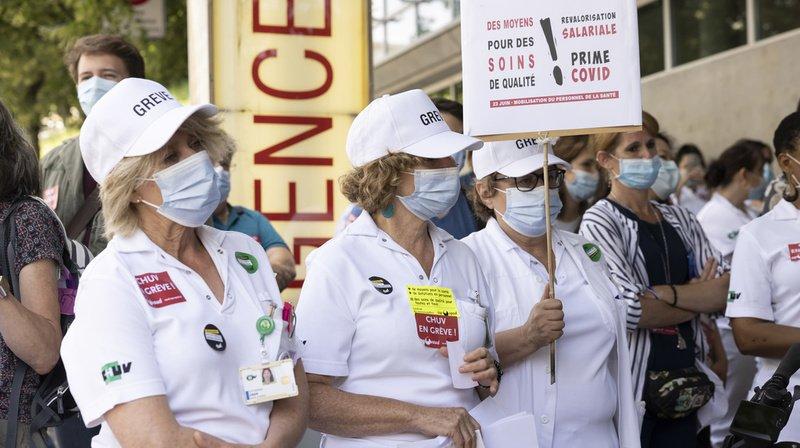 Coronavirus: épuisé, le personnel du CHUV manifeste son ras-le-bol