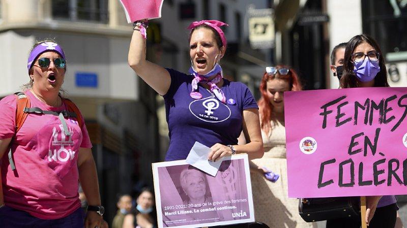 Lausanne: les femmes mobilisées contre les inégalités