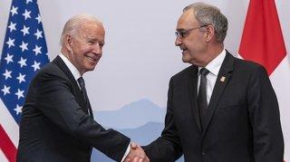 Rencontre avec Biden: «On a parlé recherche et bons offices»