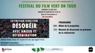 Fest. du film vert on tour, extinction Rebellion