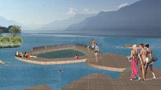 Un «jardin» sur le Léman: et si Morges révolutionnait son accès au lac?