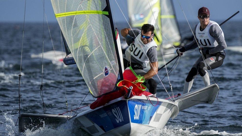 Lucien Cujean et Sébastien Schneiter ont trimé dans la baie d'Enoshima. En vain.