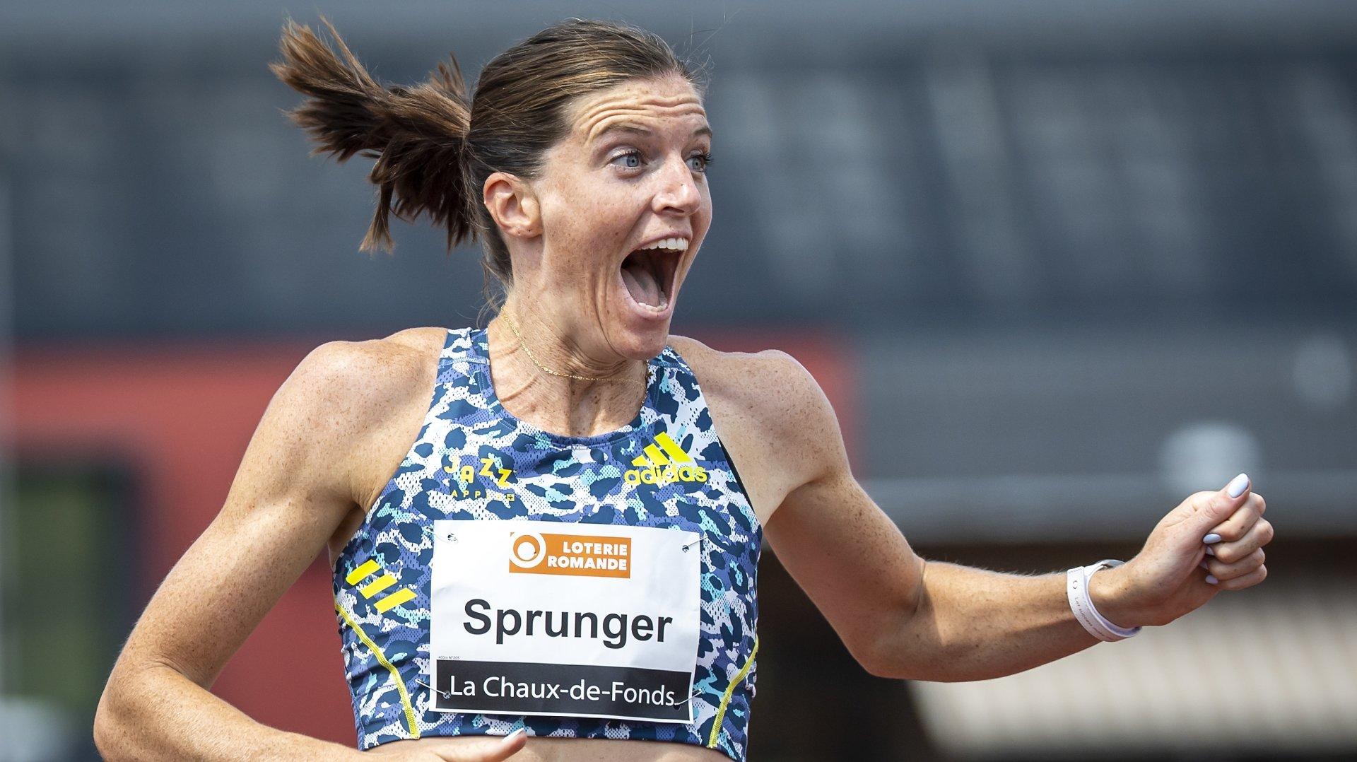 Lea Sprunger a bouclé son 400 m à seulement 18 centièmes de son record de Suisse. Heureuse, vous avez-dit heureuse?