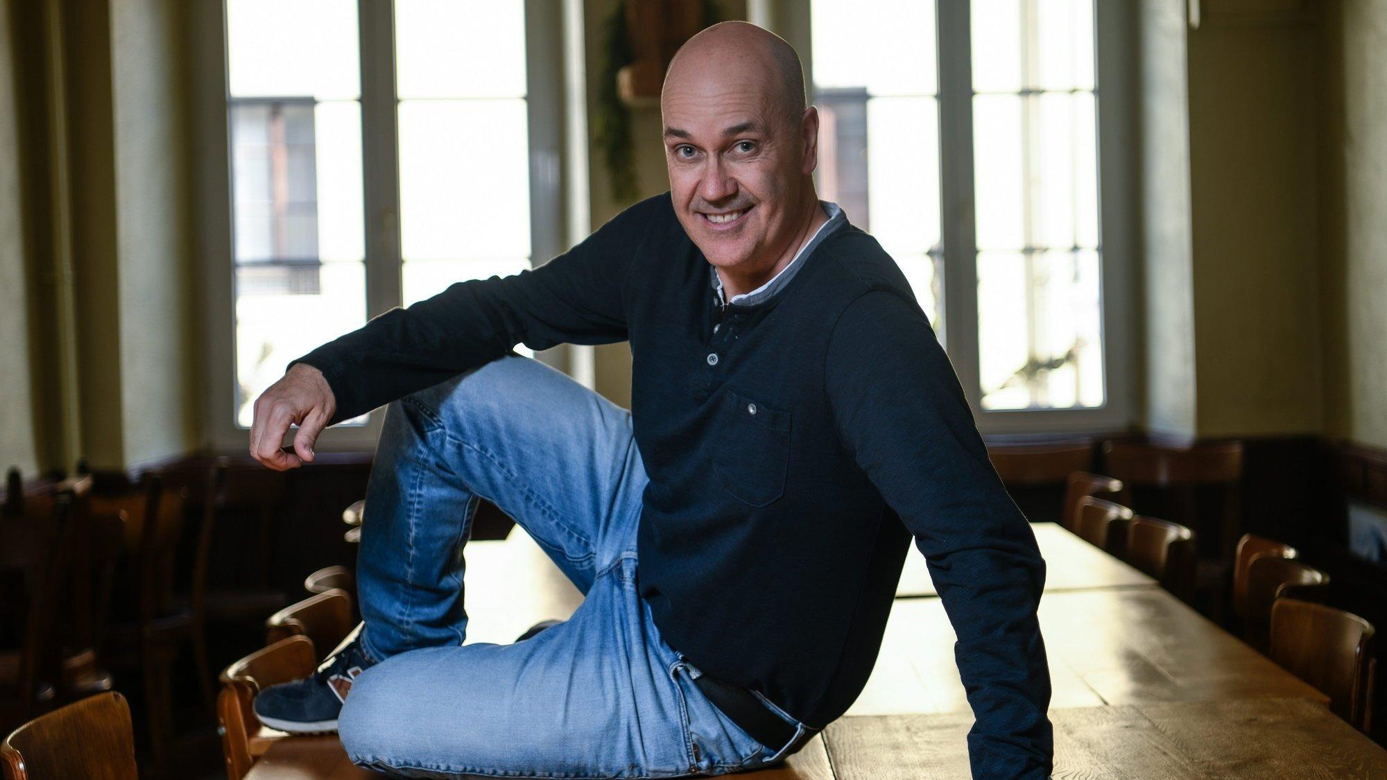 Portrait de Gary Sheehan, entraineur du HC Ajoie.  Porrentruy, le 20 fevrier 2020 Photo: Christian Galley