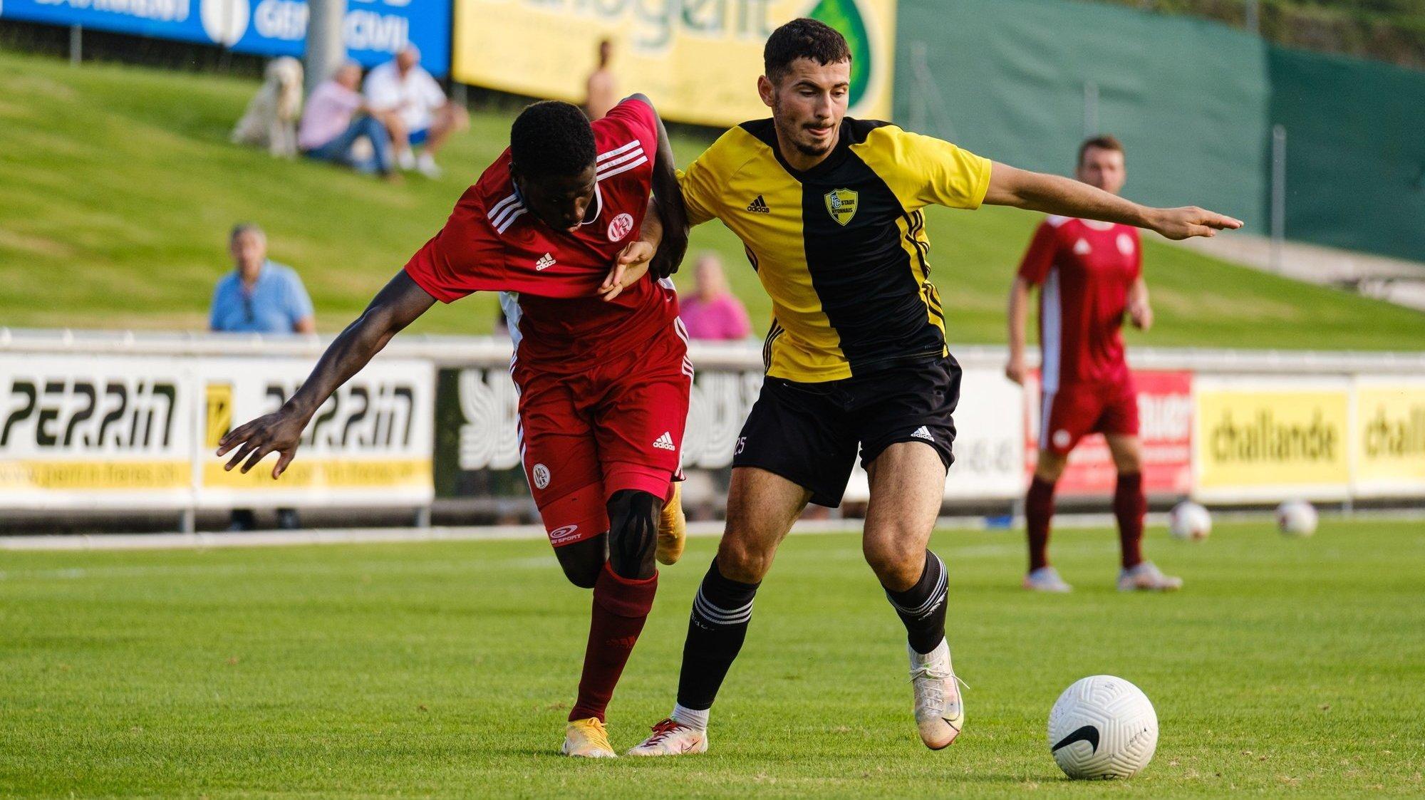 """Tiago Escorza et les """"jaune et noir"""" ont accroché le leader Breitenrain."""