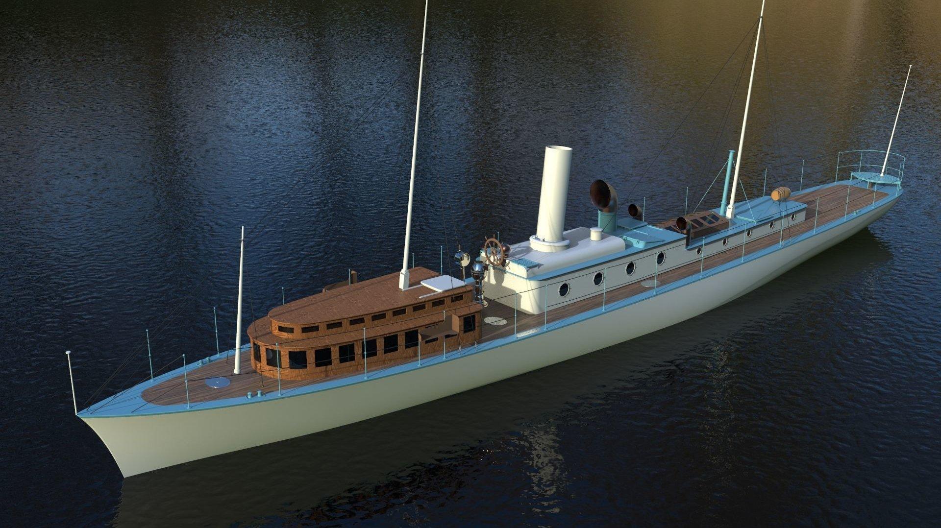 Il manque 550 000 francs pour que La Peccadille ressemble à cet élégant navire.