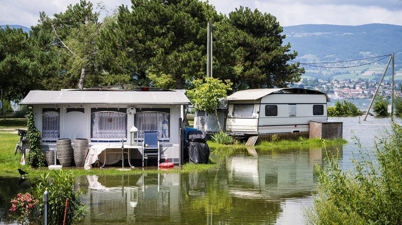Vaud: l'ECA indemnisera les caravanes et les habitations inondées