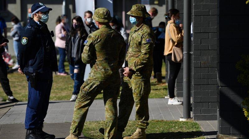 Confinement: l'armée s'est déployée à Sydney