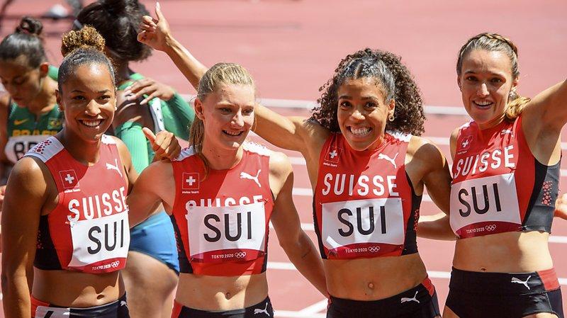 JO2021 – Athlétisme: finale et record de Suisse pour le relais 4x100 m
