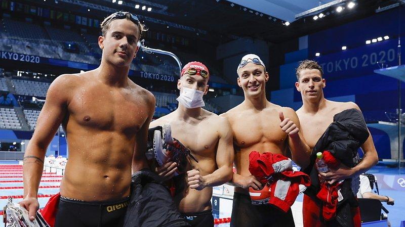 JO 2021 et natation: le relais 4x200 m suisse en finale