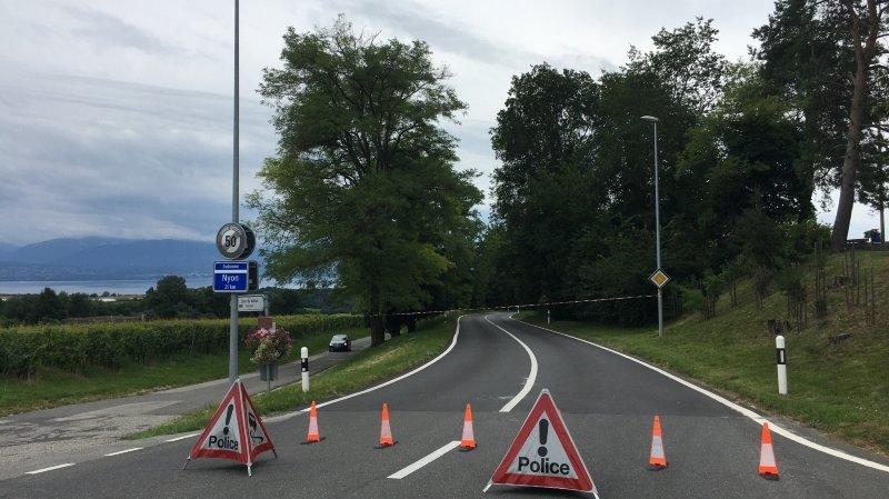 Aubonne- Lavigny: «accident grave» et route fermée