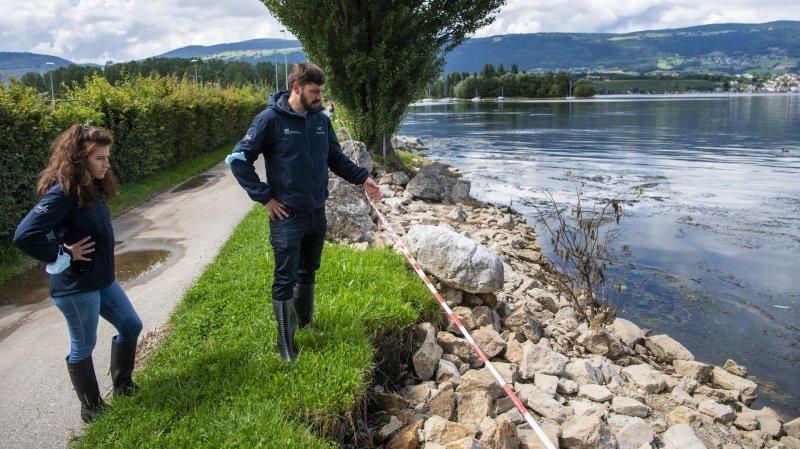 Yverdon: le nettoyage des rives du lac se poursuit