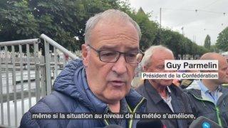 Guy Parmelin rend visite aux secouristes à Lucerne
