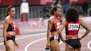 JO 2021 - Athlétisme: les Suissesses du 4x100 m au pied du podium, la Jamaïque en or
