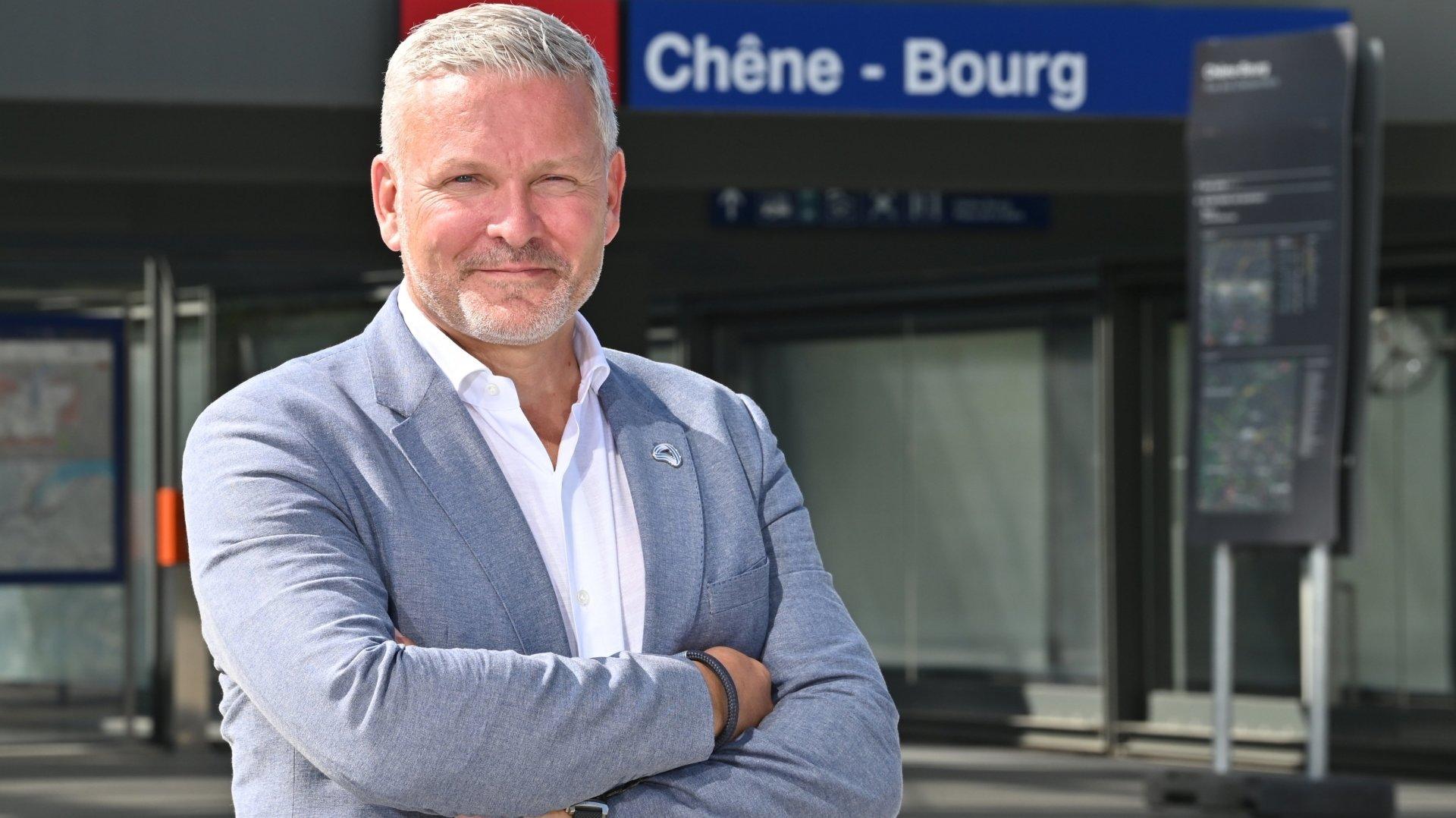 Mathieu Fleury utilise le Léman Express quotidiennement pour rallier son lieu de travail.