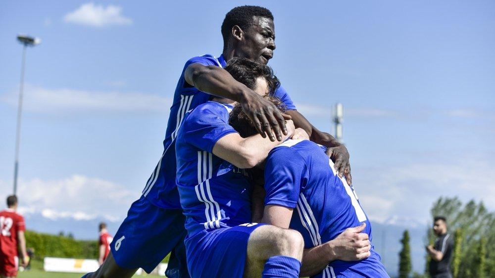 Freddy Nguemeni et ses coéquipiers ont pu célébrer huit buts ce week-end.