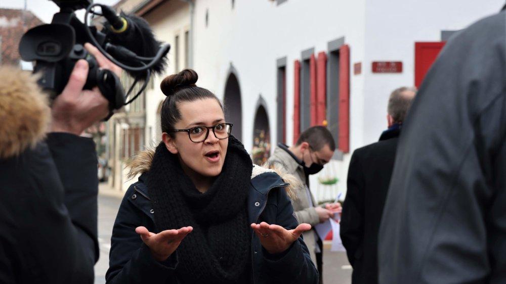 Sofia Adelino en tournage pour la RTS