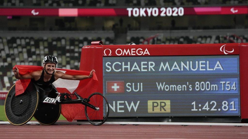 Manuela Schär a décroché l'or sur 800m en fauteuil roulant (T54) avec un record paralympique à la clé (1'42''81).