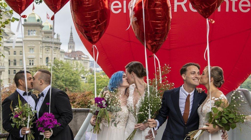Mariage pour tous: une Suisse unie dit «oui je le veux»
