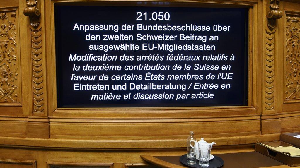 Suisse – UE: le Parlement libère le milliard de cohésion