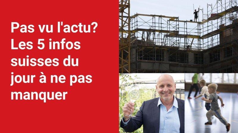 Les 5 infos à retenir dans l'actu suisse de ce lundi 6 septembre