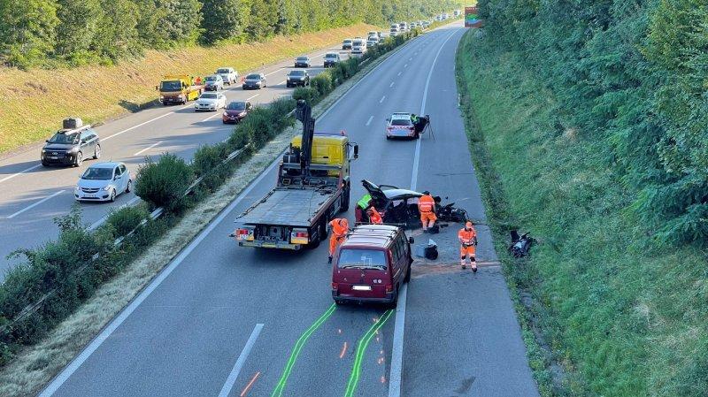 L'accident a eu lieu au niveau de Duillier entre Nyon et Gland.
