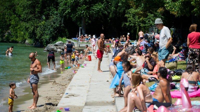 Prangins: la plage déborde en raison de sa gratuité, des élus tempêtent