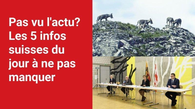 Les 5 infos à retenir dans l'actu suisse de ce mercredi 22 septembre