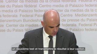 Présentation d'un test Covid négatif pour entrer en Suisse