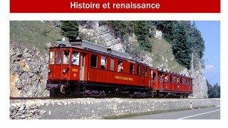 """Le """"Ptit train rouge"""" de Nyon à Morez"""