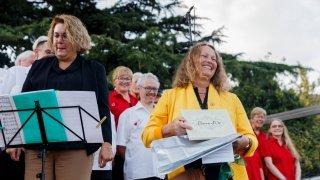 Présidente du Grand conseil, Laurence Cretegny fête son investiture entre ville et campagne