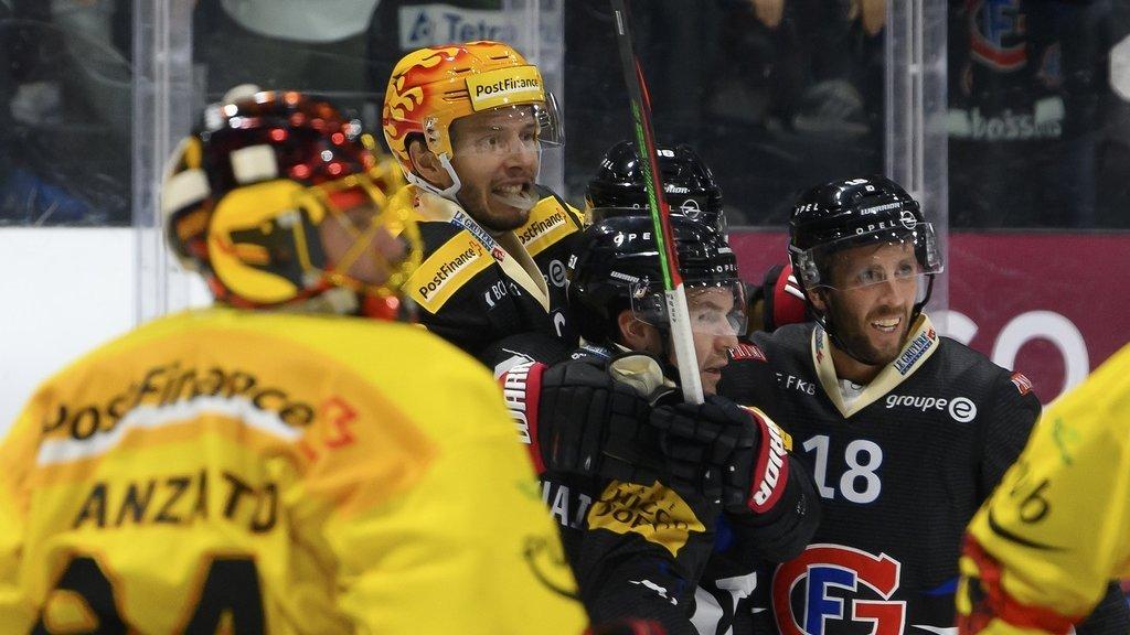 Hockey: Fribourg s'impose face à Berne pour sa 10e victoire de suite, Lausanne et Genève battus