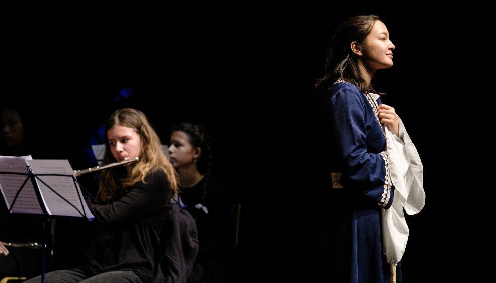 Le concert de l'orchestre du Conservatoire de l'Ouest Vaudois au La Côte Flûte Festival.