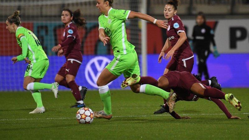 Football – Ligue des champions dames: Servette Chênois fessé par Wolfsburg