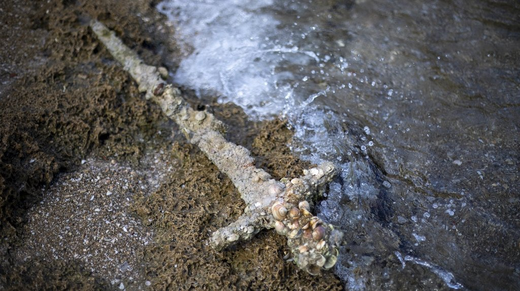 Israël: il découvre une épée d'un chevalier croisé vieille de 900 ans