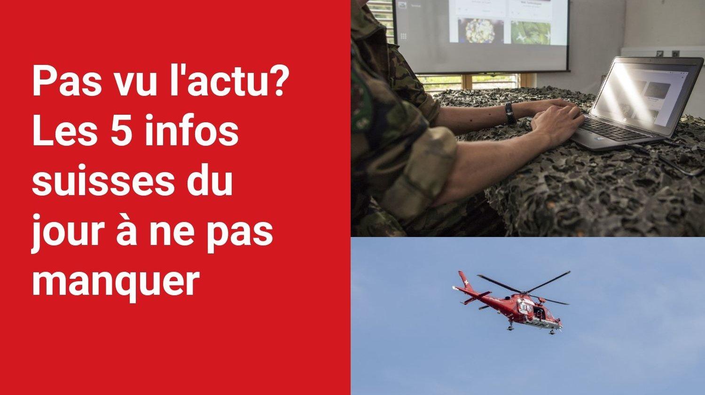 Les 5 infos à retenir dans l'actu suisse de ce lundi 18 octobre